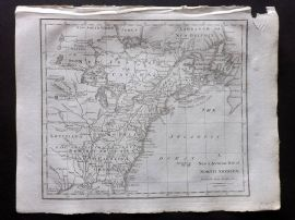 John Cary 1801 Antique Map. A New & Accurate Map of North America. USA Canada